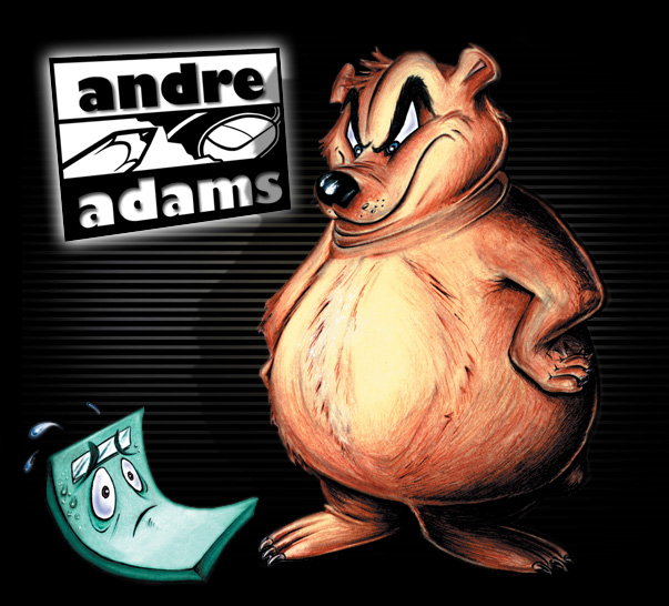 cartoon bear and scale by Andre Adams
