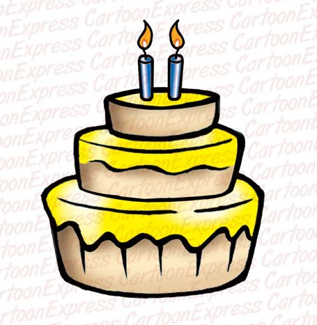 Birthday Cake Clip  on Birthday Cake Candles