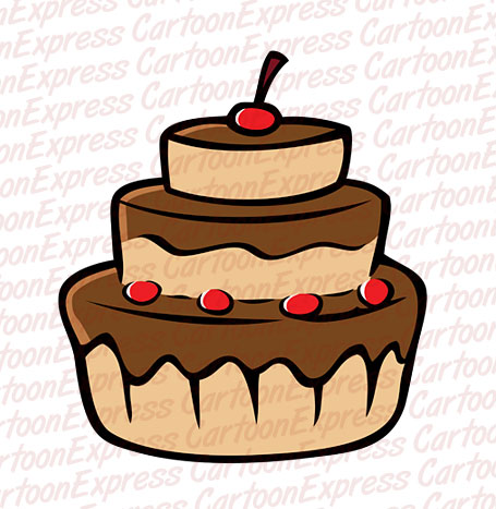 Cake Images In Cartoon : Chocolate Cake Cartoon Chocolate Chip Cookies